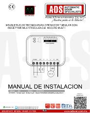 Tableta Electronica Para Operador Tubular con Receptor Multi - Frecuencia MOD.RS MULTI, ADS Puertas & Portones Automaticos S.A. de C.V.