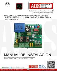 Tableta Electronica Para Operador Abatible Electromecanico con Receptor de Frecuencia MOD.SW-MULTI, ADS Puertas & Portones Automaticos S.A. de C.V.