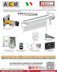 ACM, Operador Tubular Enrollable de Impulso MOD.TITANSIDE, ADS Puertas & Portones Automaticos S.A. de C.V.