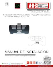 Transmisor Tipo Visera MultiFrecuencias 3 Canales MOD.MULTI