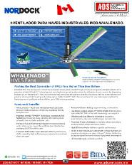 Nordock, VENTILADOR PARA NAVES INDUSTRIALES MOD.WHALENADO,.pdf, Puertas y Portones Automaticos S.A. de C.V.