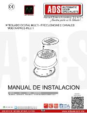 Teclado Digital MultiFrecuencias 2 Canales MOD.WKPAD2-MULTI, ADS Puertas & Portones Automaticos S.A. de C.V.