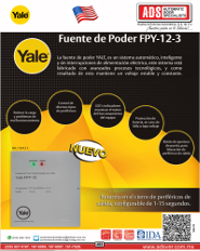 Catalogo Fuente de Poder MOD.FPY-12-3 Yale