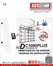 Manual de Instalacion, Manual de Instalacion Abrepuertas de Garage DC1000PLUS, Puertas y Portones Automaticos S.A. de C.V.