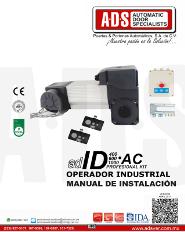 Manual de Instalacion, Manual de Instalacion Abrepuertas de Garage ID400AC.pdf, Puertas y Portones Automaticos S.A. de C.V.