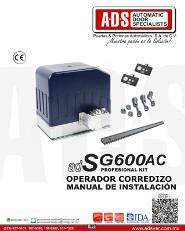 Manual de Instalacion, Manual de Instalacion Abrepuertas de Garage SG600AC.pdf, Puertas y Portones Automaticos S.A. de C.V.