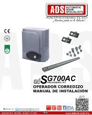 Manual de Instalacion, Manual de Instalacion Abrepuertas de Garage SG700AC.pdf, Puertas y Portones Automaticos S.A. de C.V.