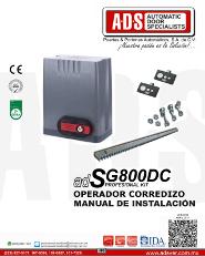 Manual de Instalacion, Manual de Instalacion Abrepuertas de Garage SG800DC, Puertas y Portones Automaticos S.A. de C.V.