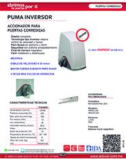 Cátalogo Erreka Puma, Puertas y Portones Automaticos S.A. de C.V.