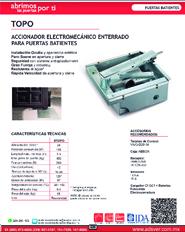 Cátalogo Erreka Topo, Puertas y Portones Automaticos S.A. de C.V.