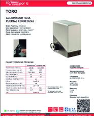 Cátalogo Erreka Toro, Puertas y Portones Automaticos S.A. de C.V.