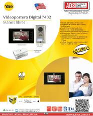 Catalogo Videoportero Digital 7402 Manos Libres Yale, ADS Puertas y Portones Automaticos