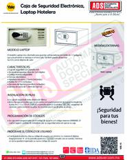 Catalogo Caja de Seguridad Electrónica,Laptop Hotelera Yale, ADS