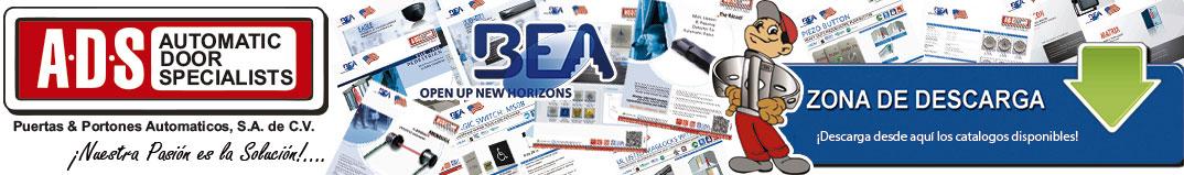 Logo BEA, ADS Puertas y Portones Automaticos